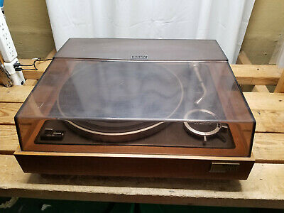 SONY PS-5520 BELT DRIVE TURNTABLE /w Dust Cover