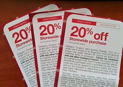 Target 20% Off Storewide Coupon Valid 12/3-12/14/19. Online or in store!