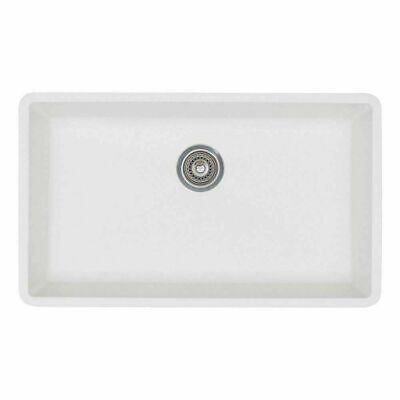"BLANCO 440150 Precis Undermount Super Single Bowl Sink, White, 32"" L X 19"" W"
