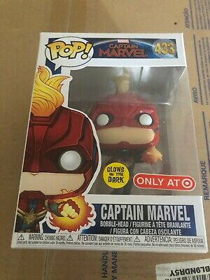 Funko POP! #433 Captain Marvel GITD TARGET EXCLUSIVE Glow in the dark