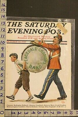 1928 Music Instrument March Band Percussion Drum Major Foster Art Cover Sa42
