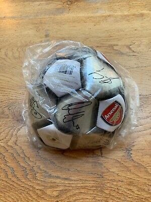 Official Arsenal Fc Gunners Silver Signature Football Adult Size 5. Not Inflated