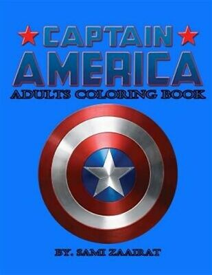 Captain America Adult Coloring Book : Adults Coloring Book, Paperback by Zaai...