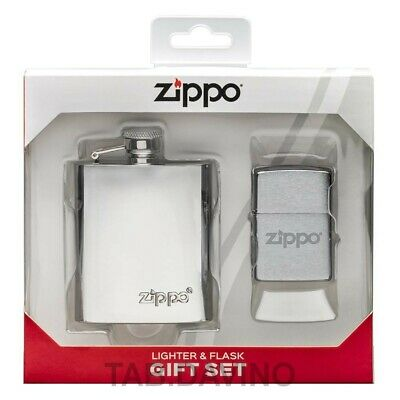 Zippo Accendino Fiaschetta Set Accendino Flask Lighter 49098