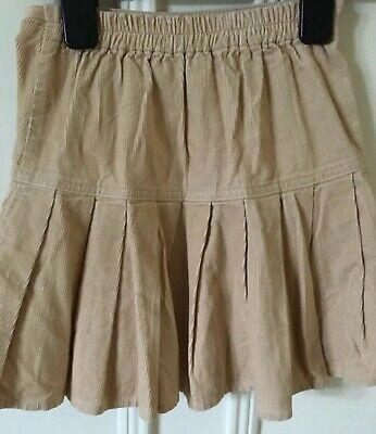 Mothercare Girl's cord skirt Age 4-5 sand colour. Gathered with elasticated back