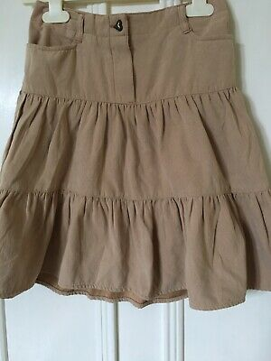 Girl's Suede Look Mothercare Gypsey Skirt Age 4-5 Years, Sand Colour