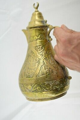 old antique Rare Islamic Teapot Masterpiece ottoman pitcher algerian constantine