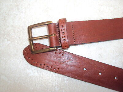"Marks & Spencer (M&S) Brown Leather Belt, Size 38-40"" Waist"