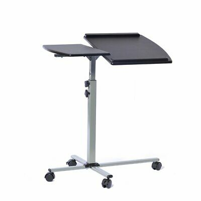 Angle & Height Adjustable Mobile Laptop Cart, Lectern in Graphite Finish