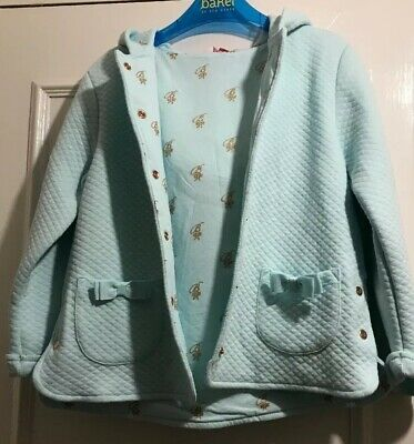Ted Baker Girls Hooded Jacket New 4-5 Years