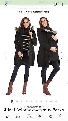 Seraphine 3 in 1 winter maternity/babywearing parka, Size 12, rrp£149