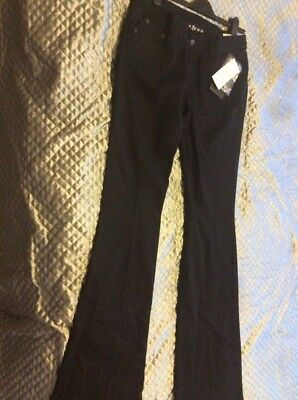 RICHMOND LADIES JEANS BLACK . W32 UK14 Made In ITALY BNWT