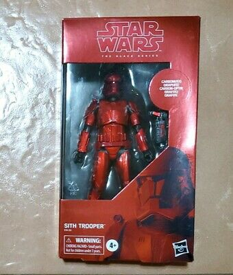 "Star Wars 6"" Black Series CARBONIZED SITH TROOPER Rise of Skywalker Non Mint Box"
