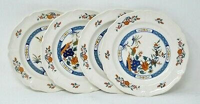 Set of 4 Wedgwood CHINESE TEAL England SALAD / LUNCHEON PLATES