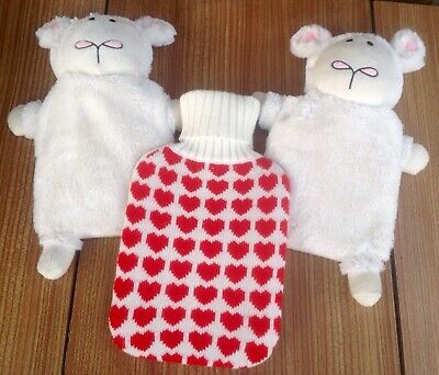 3 Novelty Hot Water Bottle Covers Lambs? (including Bottles)