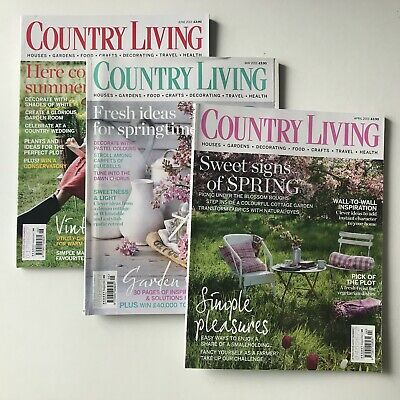 Country Living Magazines - Set Of Three 2013 April May June