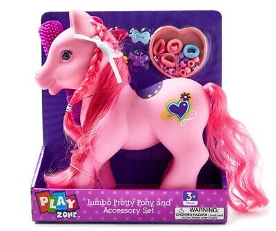 Play Zone Pink Jumbo Pretty Pony My Little Hair Stylist Horse Gifts Girls Toy
