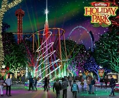 4 Six Flags Holiday In The Park General Admission Tickets