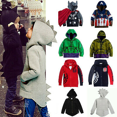 Kid Toddler Children Boys Girls Dinosaur Cartoon Hoodie Jackets Coats Hoody Tops