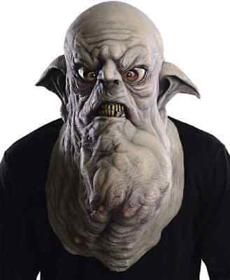 Mens Ladies Grey Stone Gargoyle Halloween Goblin Fancy Dress Costume Outfit Mask