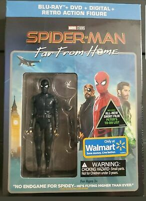 Spider-man Far From Home Walmart Exclusive Blu-ray/DVD W/Action Figure Brand New