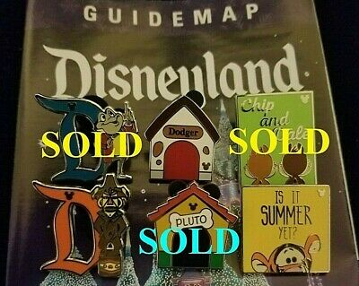 Disney Trading Pin 2019 DLR Hidden Mickey - Pluto Tigger Chip and Dale Mr. Toad