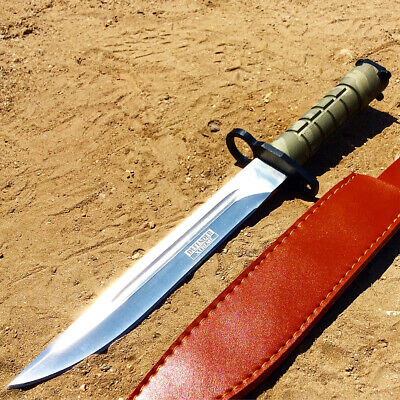 "13.5"" Military Survival Rambo Fixed Blade Hunting Knife Bayonet Tactical Bowie -"