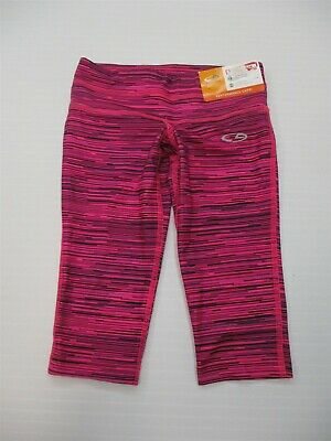 new CHAMPION C9 Youth Girl's Size XS Knit Pink/Black Performance Capris Leggings