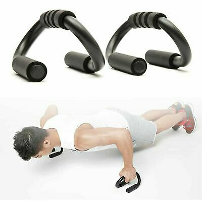 Pair Push Up Bars Chest Press Pull Gym Stand Foam Handles Fitness Exercise Bar