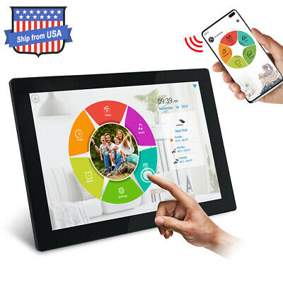 Digital Picture Frame WiFi 10 inch IPS Touch Screen HD Display 16GB Storage
