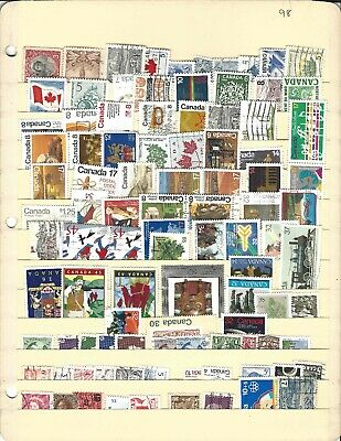 postage stamps lot, Canada, 94 different, mint/used, all large, free shipping