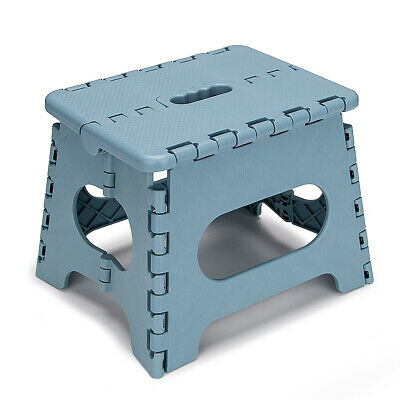 """7"""" Collapsible Folding Plastic Kitchen Step Foot Stool with Handle - Adults/Kids"""