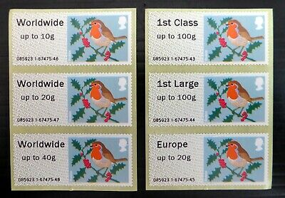 GB 2012 CHRISTMAS ROBINS Post and Go Unmounted Mint