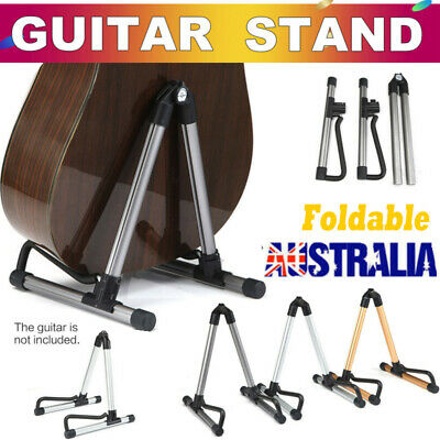NEW Folding Guitar Stand Floor Rack Electric Acoustic Bass Gig Instrument Holder
