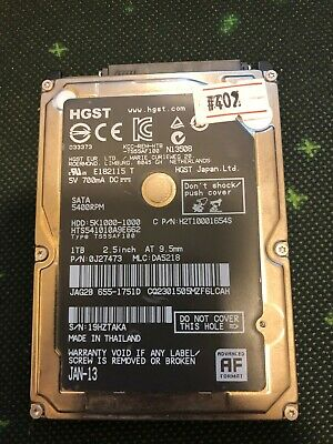 "1TB 1000MB Apple internal laptop 2.5"" inch hard drive HDD - #402 HTS541010A9E662"