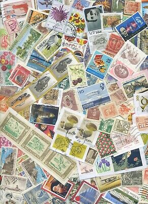 World Kiloware QUALITY STAMPS 250+ on/off paper HV GC 2 scans LOOK LOT 5/6