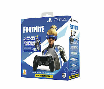 SONY DUALSHOCK 4 Wireless-Controller Jet Black:Fortnite Neo Versa Bundle NEU OVP