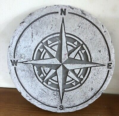 Latex Mould for making this Compass Plaque / Stepping Stone