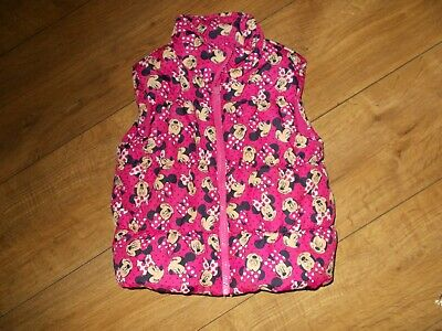 Girls George Pink Minnie Mouse Gillet -3/4