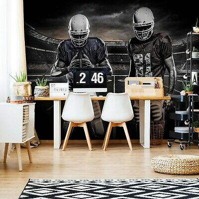 American Football Stadium Black And White Wall Mural Fleece Easy-Install Paper