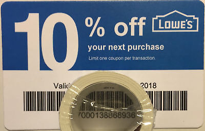 Twenty (20) LOWES Coupons 10% OFF At Competitors ONLY notLowes OCTOBER 15 2020