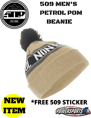 509 Mens Petrol Beanie Winter Hat Khaki F09002200-000-901 *Free 509 Sticker