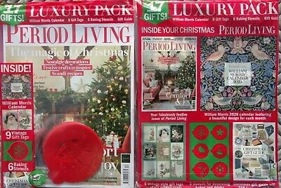 Period Living Magazine December 2019 With William Morris Calendar & Gifts ~