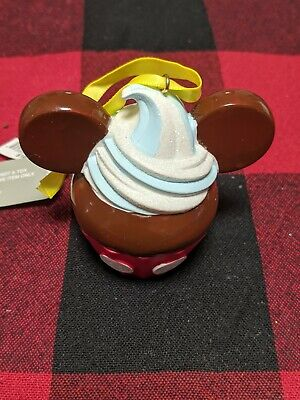 Disney Parks Sweet Treats 2019 Mickey Cupcake Christmas Holiday Ornament New