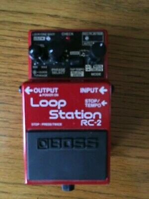 Boss RC-2 Loop Station Guitar Effects Pedal In Original Box + Manual