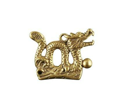 Chinese old collection handwork bronze Zodiac Dragon God statue Pendant Gift