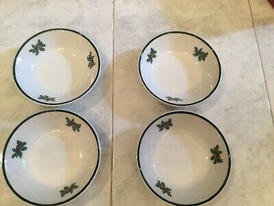 """Johnson Brothers Victorian Christmas Fruit Saucer Bowls 5"""" (New) Set Of 4"""
