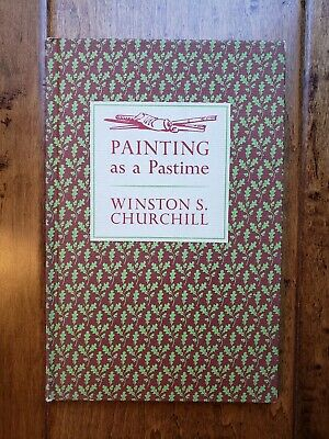 1965 Painting As A Pastime Book By Sir Winston Churchill - 18 Paintings