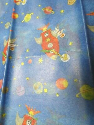Milly Green Rockets Tissue Paper 1 pack of 4 sheets / Has flaws