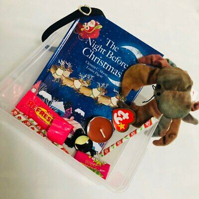 New Christmas Eve Box Presents Girls XMAS The Night Before Christmas TY Crab